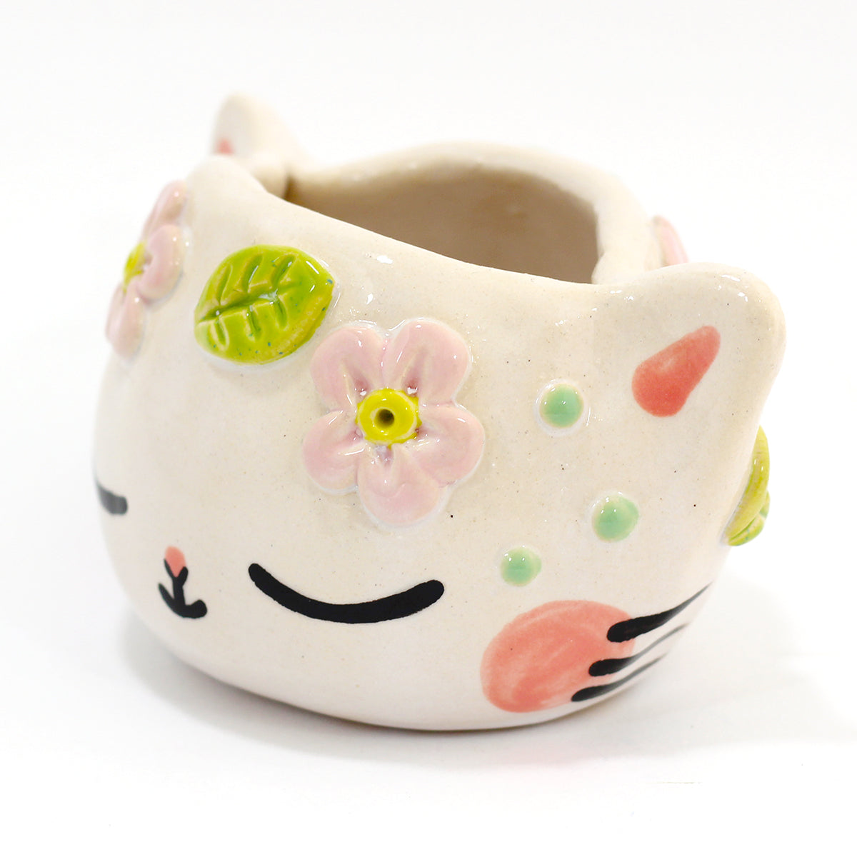 Ceramic Kitty Planter #1307 - M