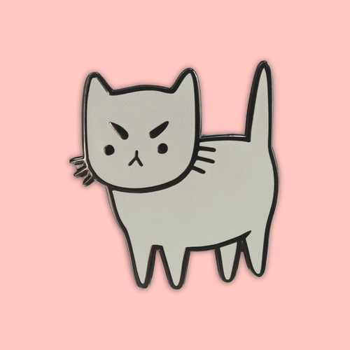 Cranky Cat Enamel Pin