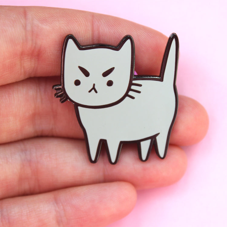 Cranky Cat Pin