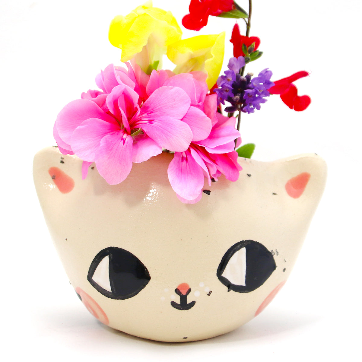 Ceramic Kitty Planter #1138 - L