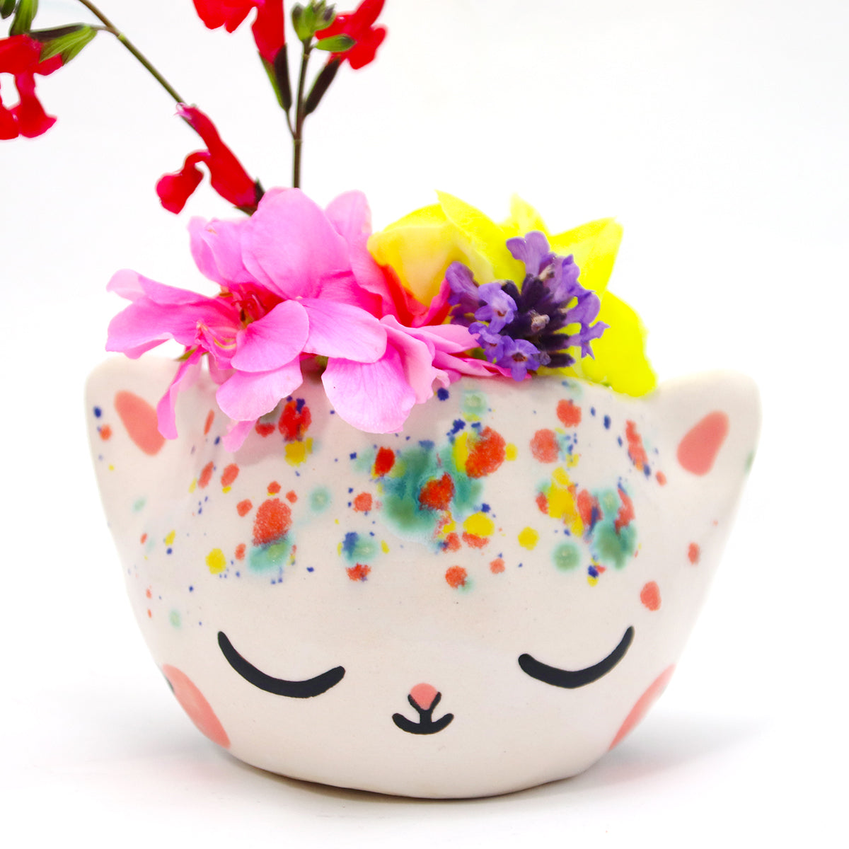 Ceramic Kitty Planter #1142 - L