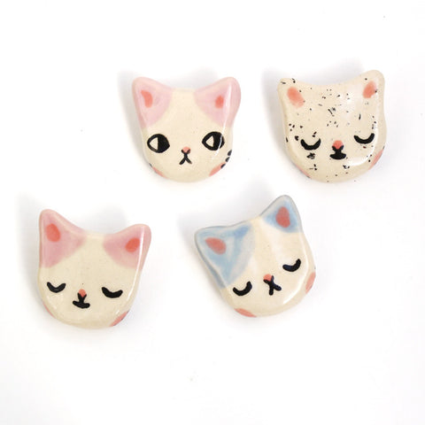 Ceramic Kitty Brooch - S