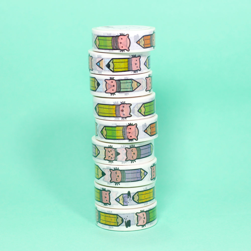 Pencil Kitty Washi Tape
