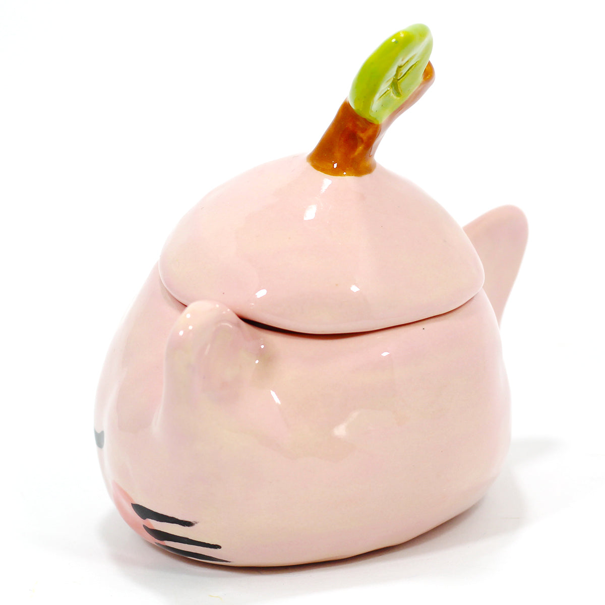 Ceramic Apple Kitty Jar #1321