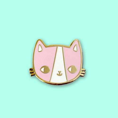 Golden Kitty Enamel Pin