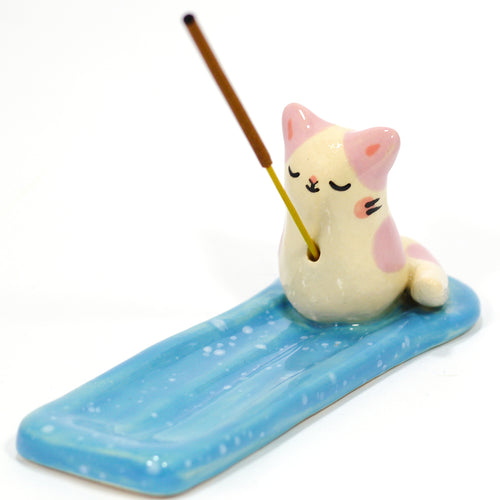 Ceramic Kitty Incense Burner #1326