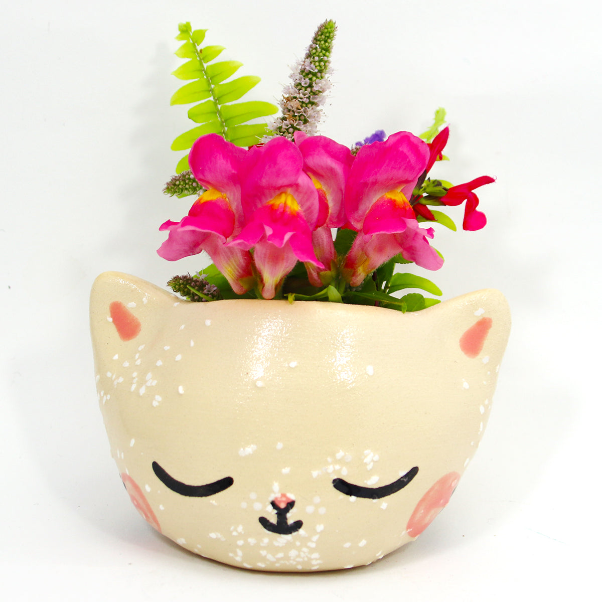 Ceramic Kitty Planter #1166 - XXS