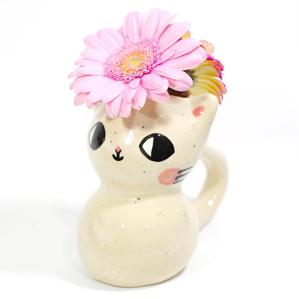 Ceramic Kitty Vase #1136