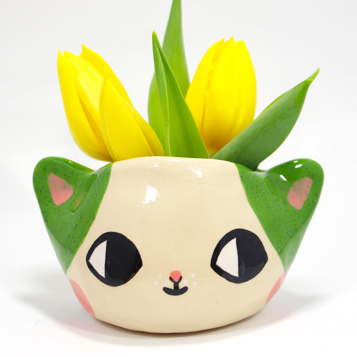 Ceramic Kitty Planter #1344 - S