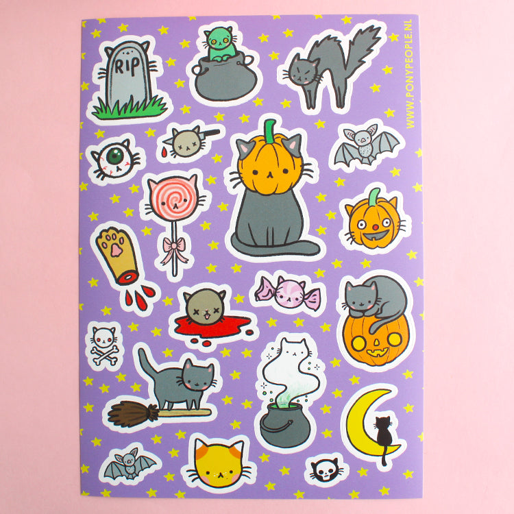 Spooky Kitty Mini Sticker Set