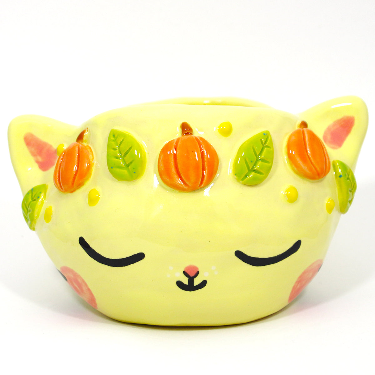 Ceramic Kitty Planter #1189 - M