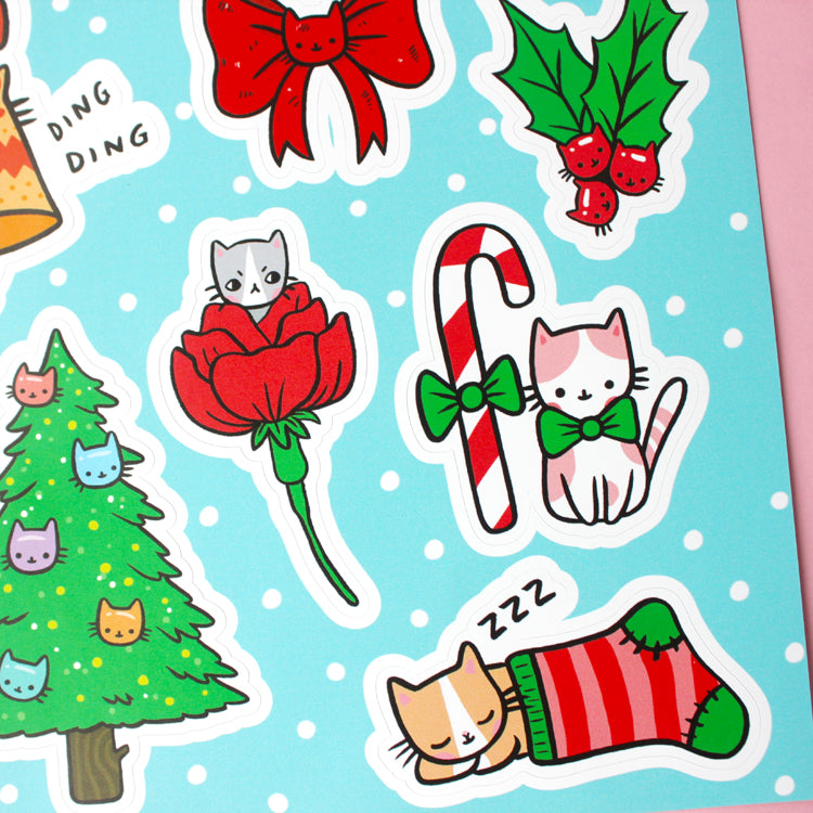 Jolly Kittens Sticker Set