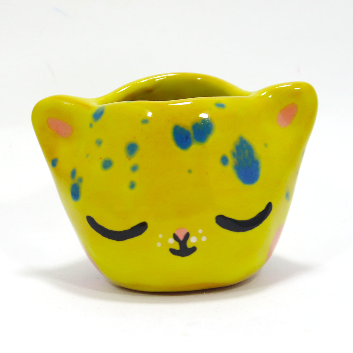 Ceramic Kitty Planter #1038 - M
