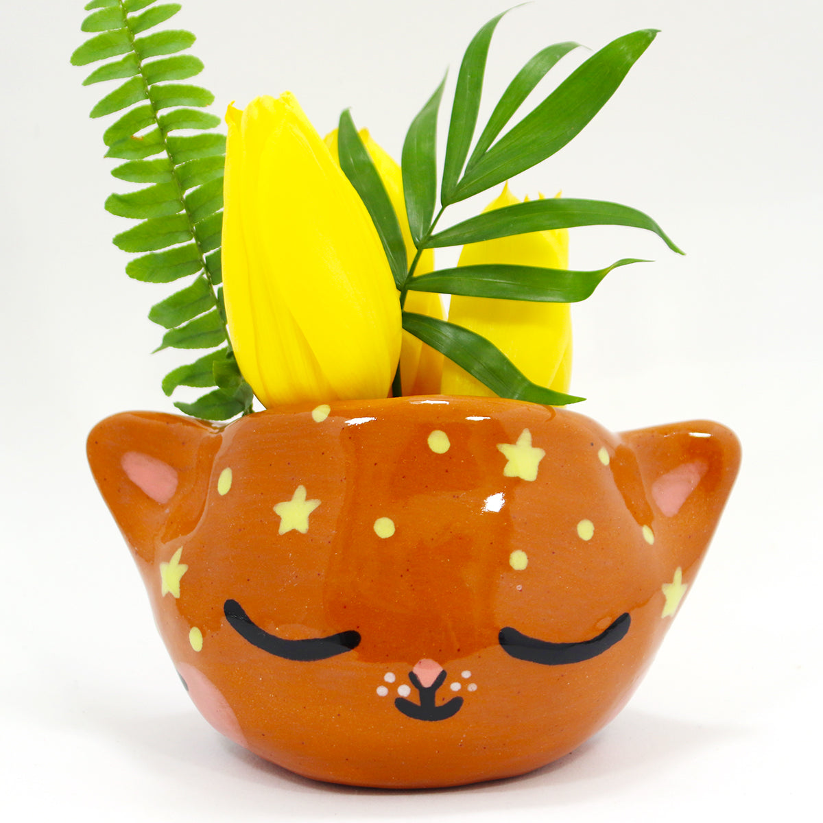 Ceramic Kitty Planter #509 - L