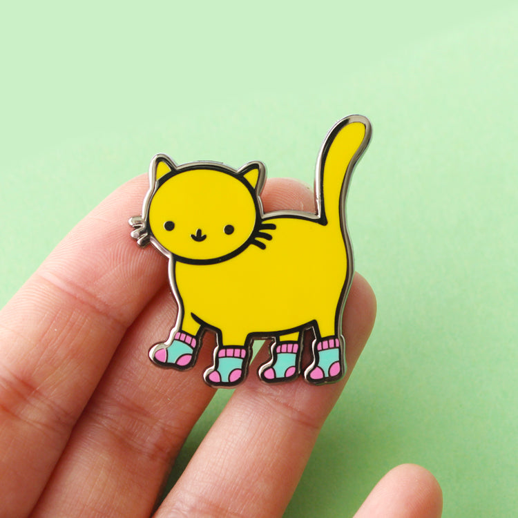 Sock Kitty Pin