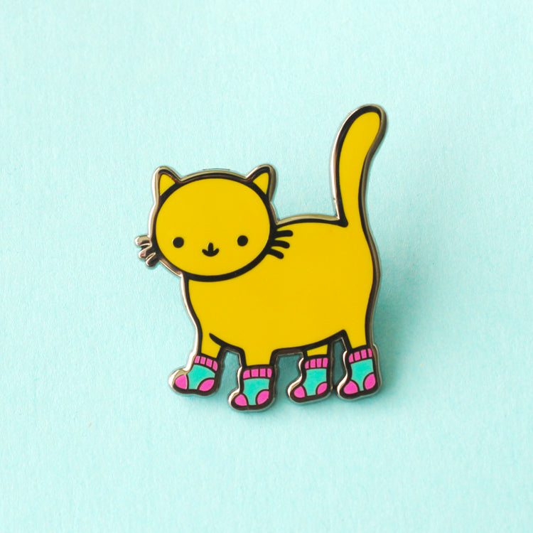 Sock Kitty Enamel Pin