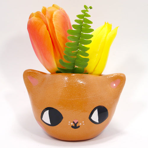Ceramic Kitty Planter #900 - XXXXL