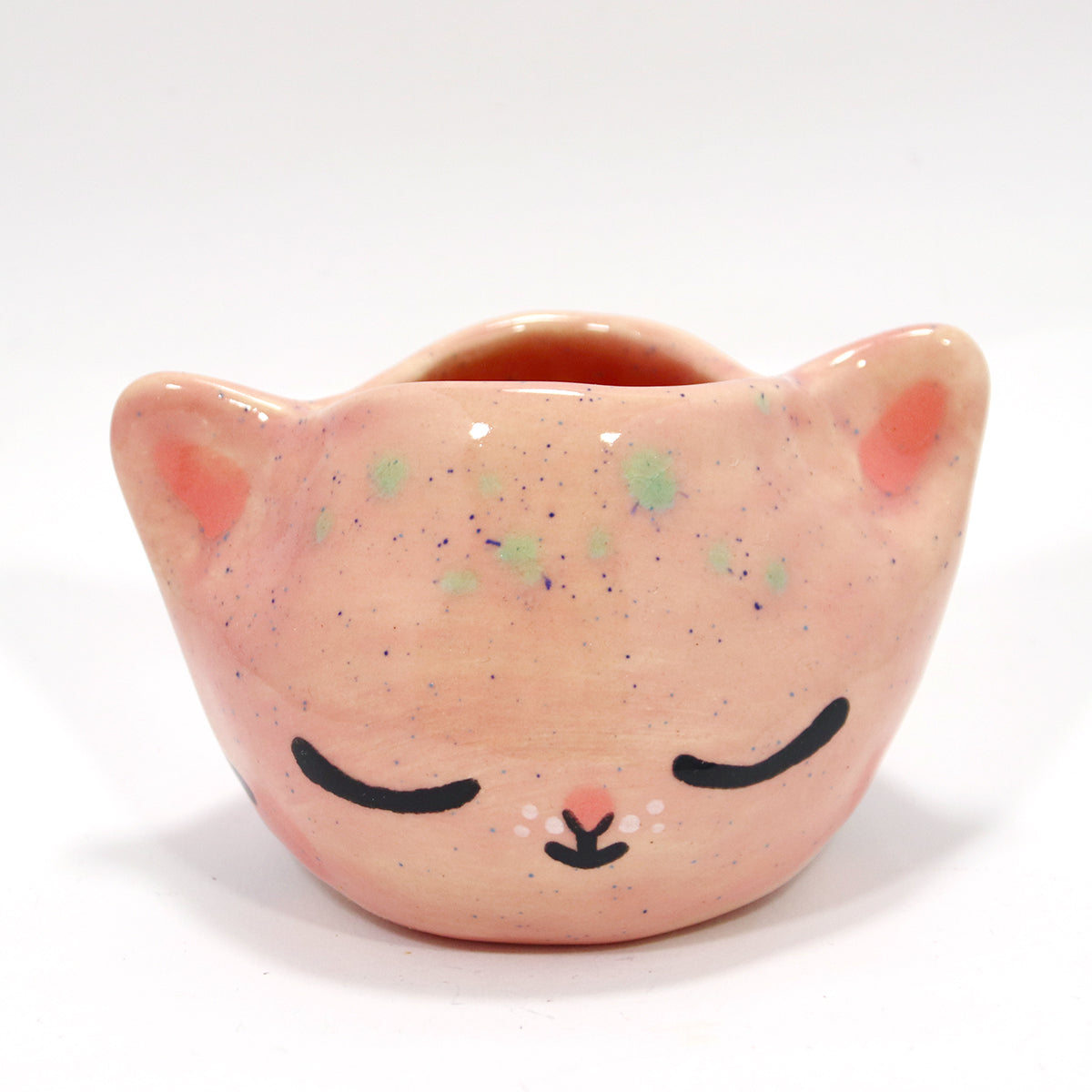 Ceramic Kitty Planter #1397 - XS