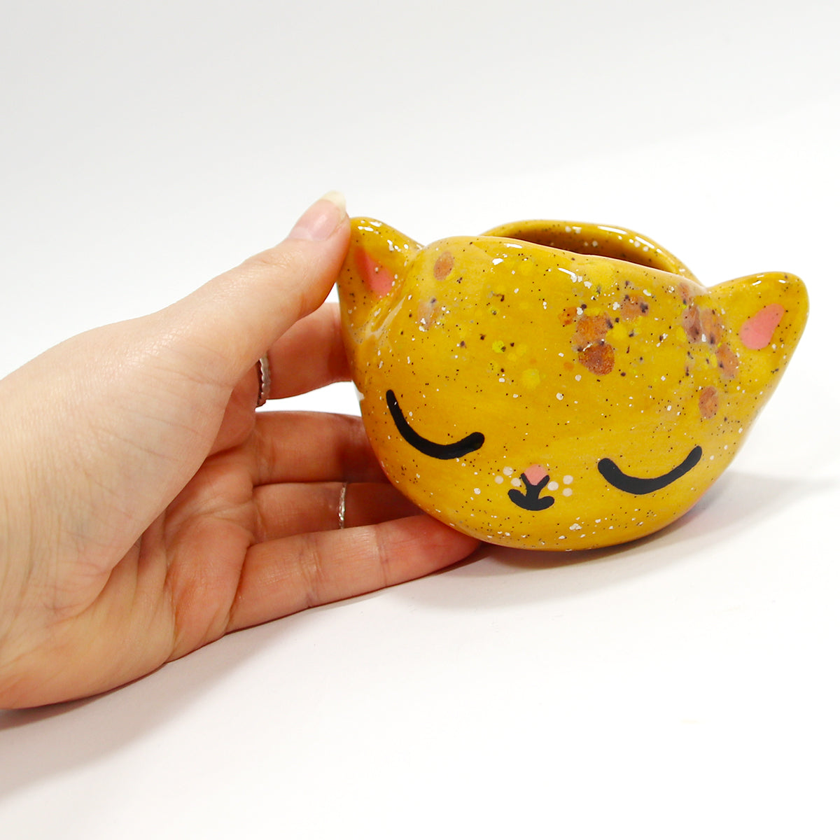 Ceramic Kitty Planter #1400 - XS
