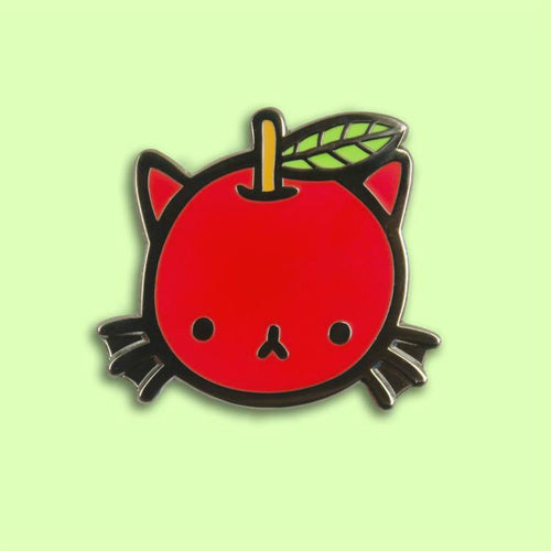 Cat Apple Enamel Pin