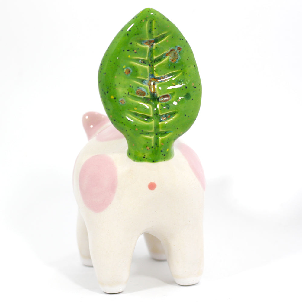Ceramic Plant Kitty Figurine #1220