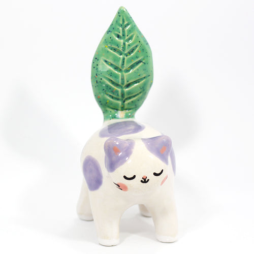 Ceramic Plant Kitty Figurine #1221