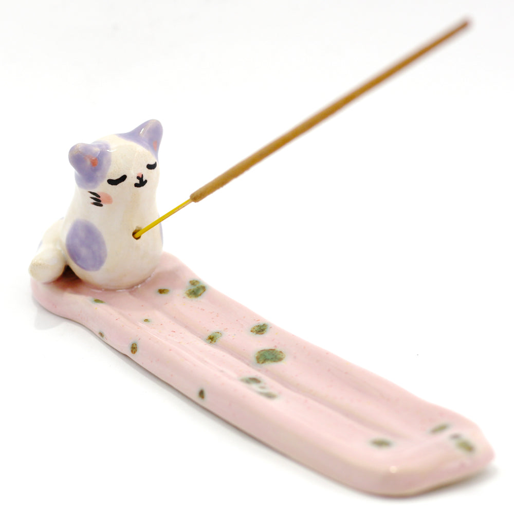 Ceramic Kitty Incense Burner #1064