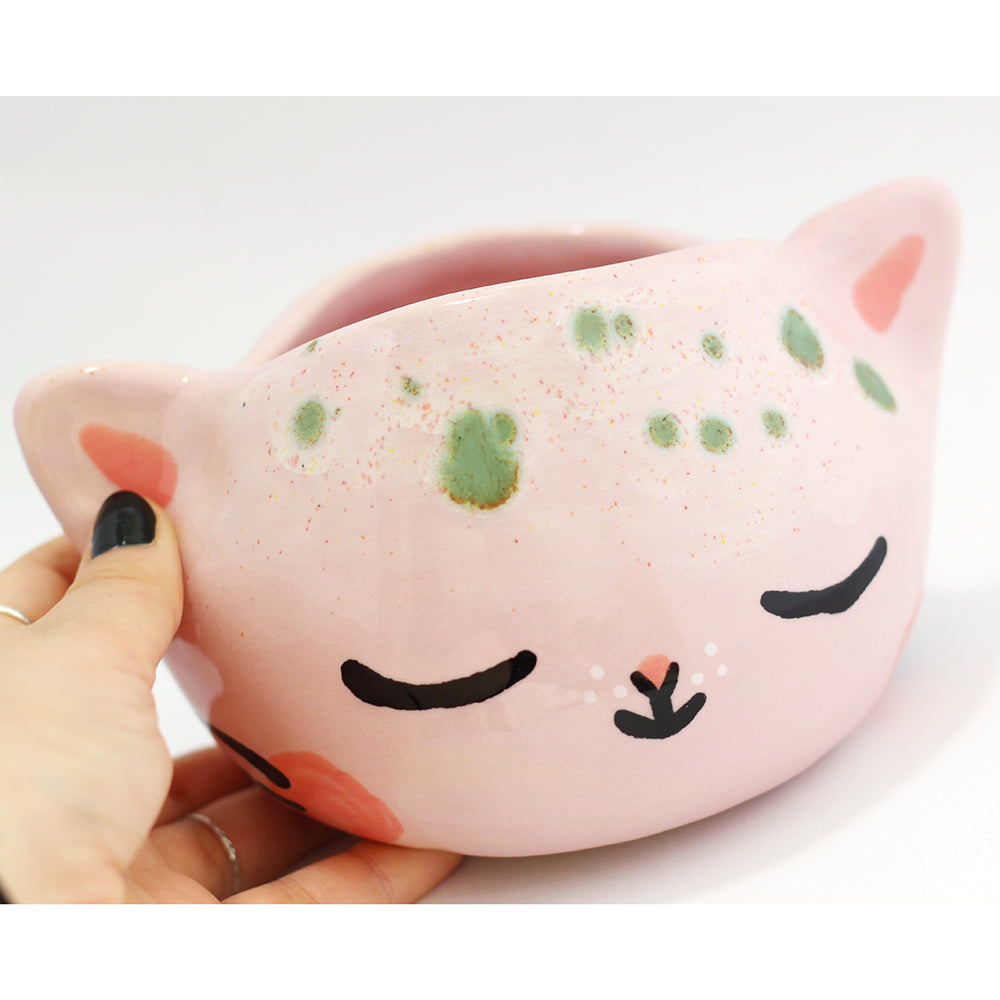 Ceramic Kitty Planter #545 - L