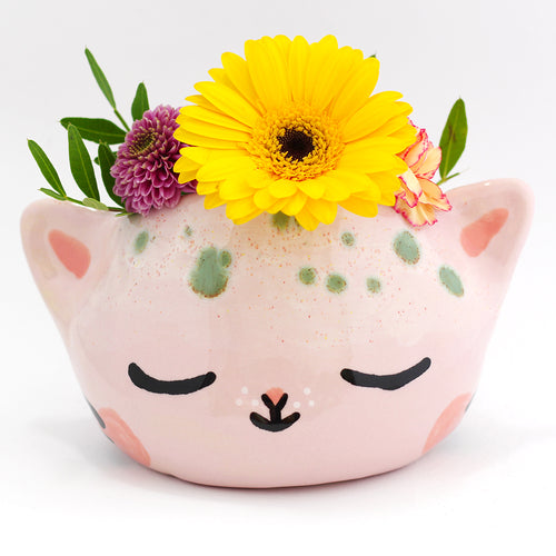 Ceramic Kitty Planter #1227 - XXXL