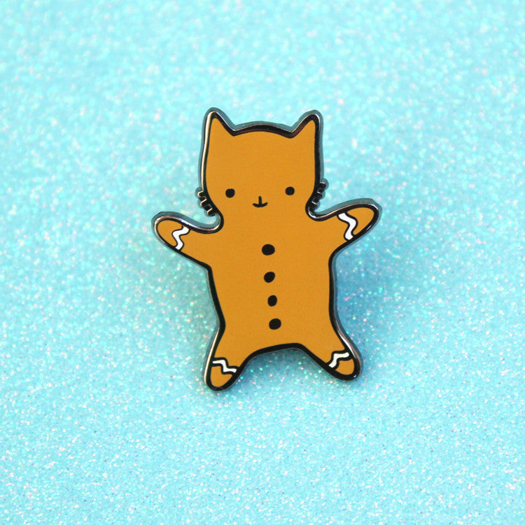 B-Grade Gingerbread Cat Pin - SALE
