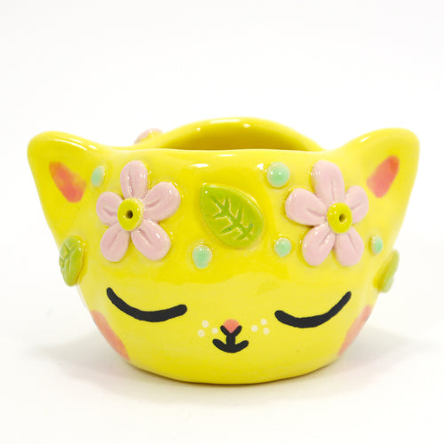 Ceramic Kitty Planter #1238 - L