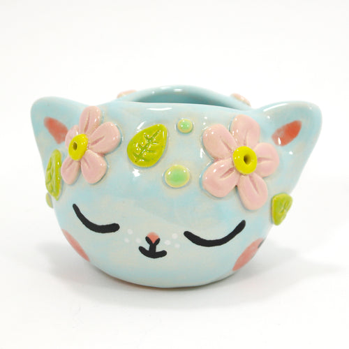 Ceramic Kitty Planter #1239 - L