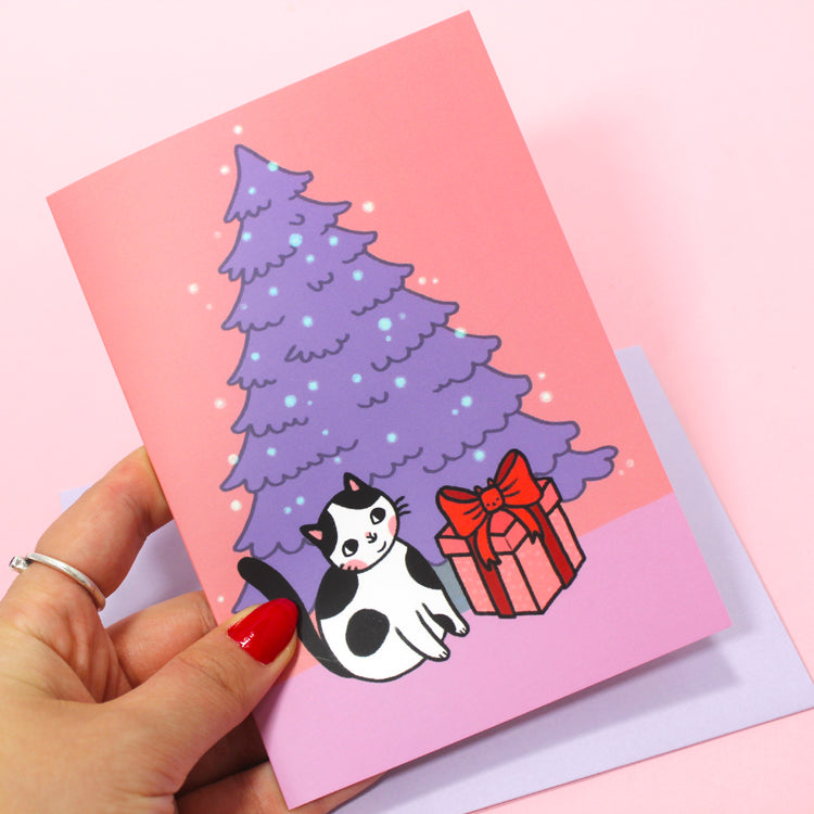 Holiday Surprise Postcard - Pink