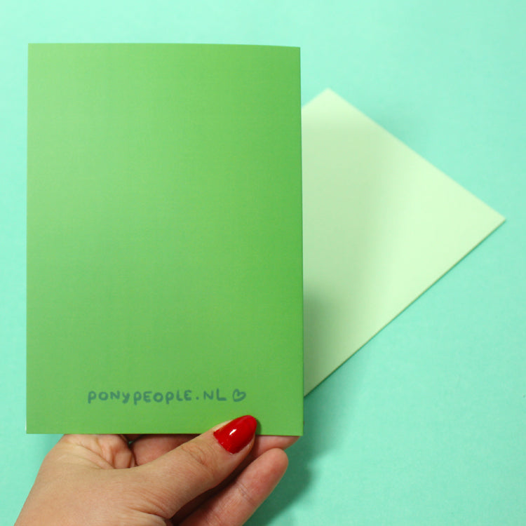 Holiday Surprise Postcard - Green