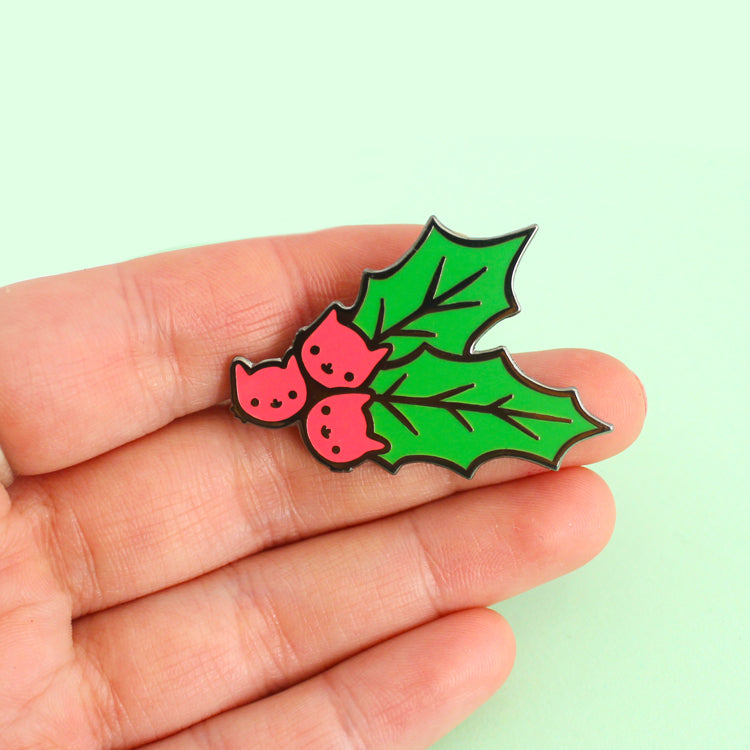Holly Kitty Enamel Pin