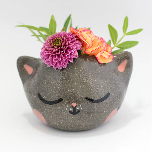 Ceramic Kitty Planter #1252 - S