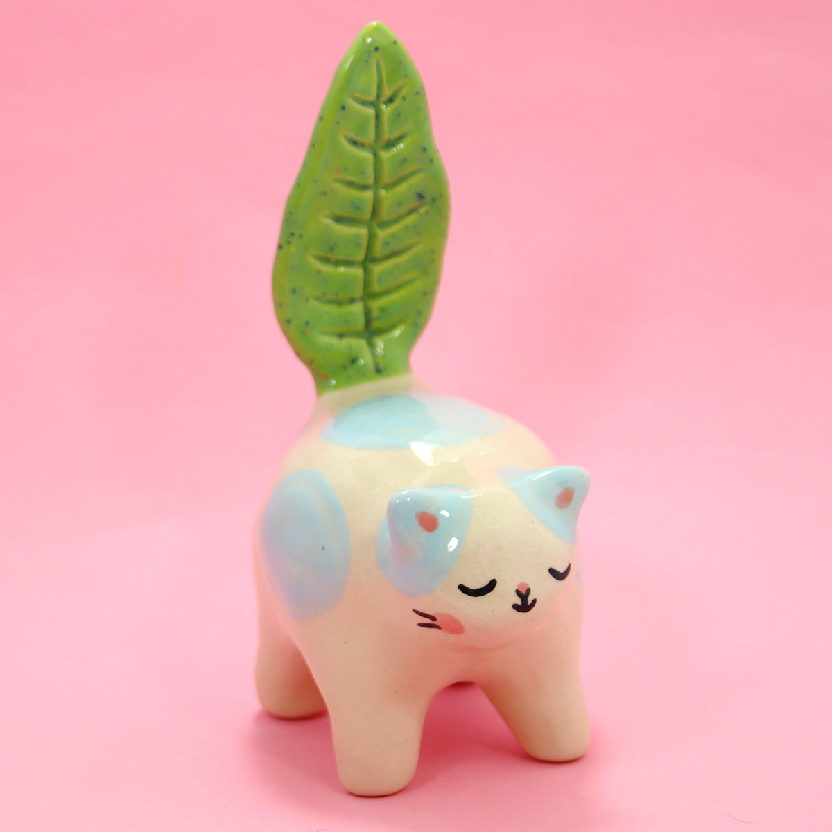 Ceramic Kitty Planter #1265 - XS