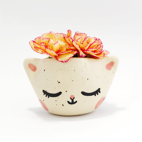 Ceramic Kitty Planter #1269 - XXS