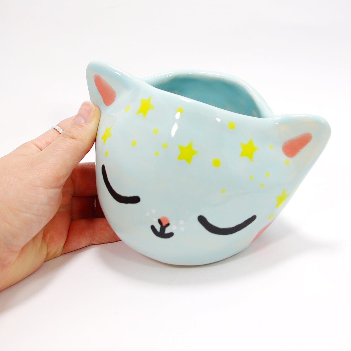Ceramic Kitty Planter #581 - M