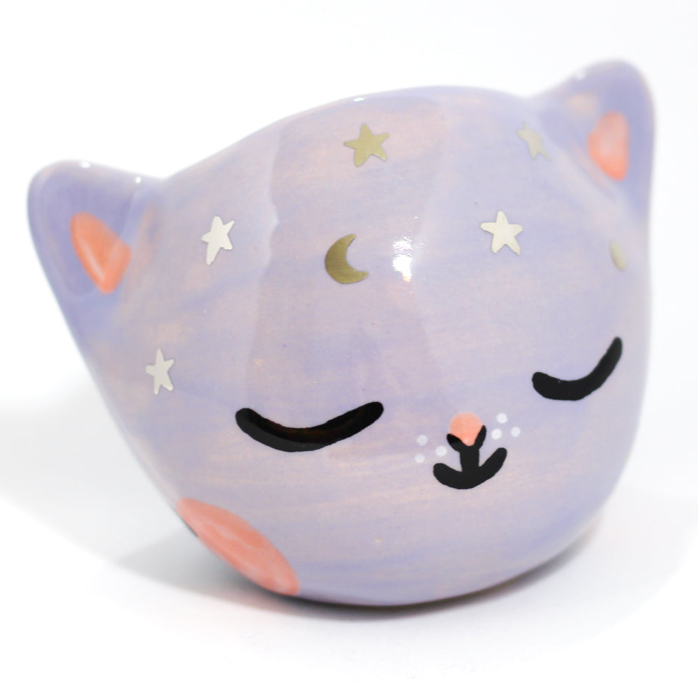 Ceramic Celestial Kitty Planter #1099 - M