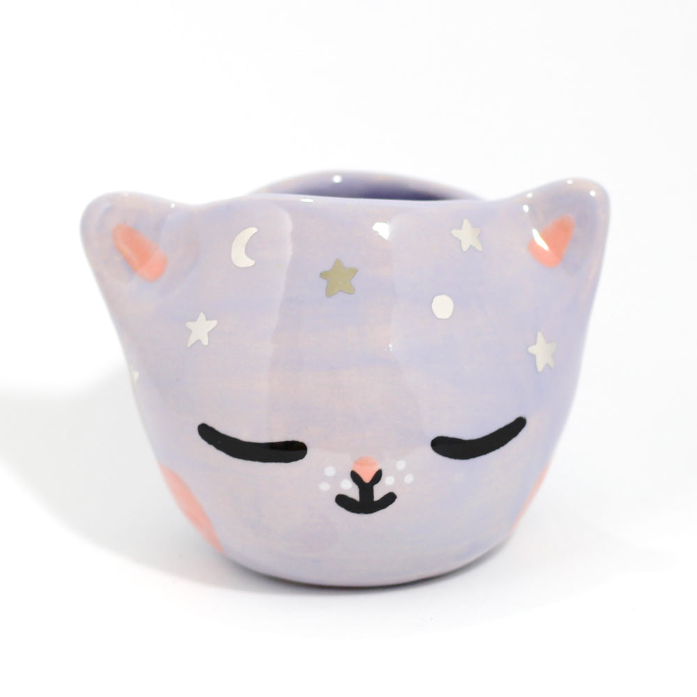 Ceramic Celestial Kitty Planter #1100 - S