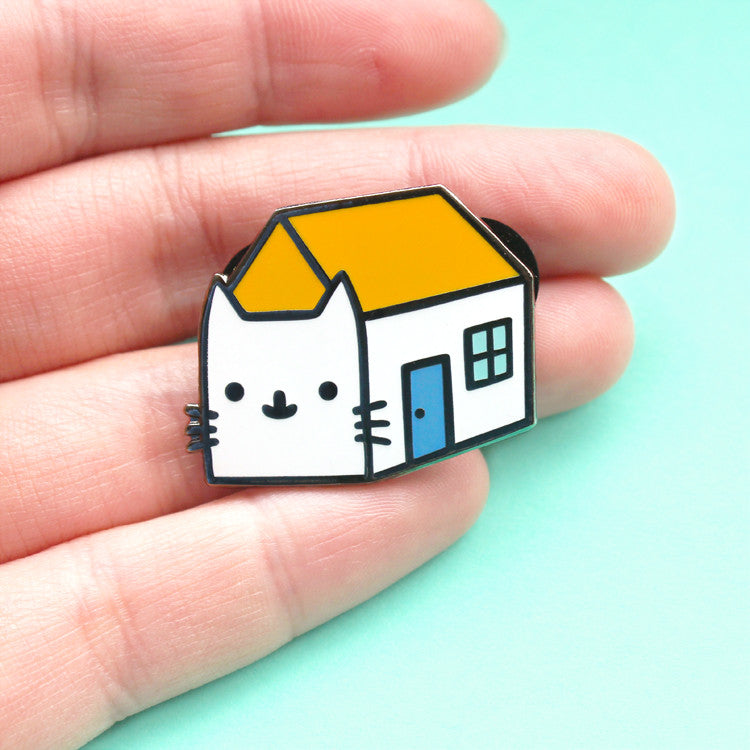 House Cat Enamel Pin