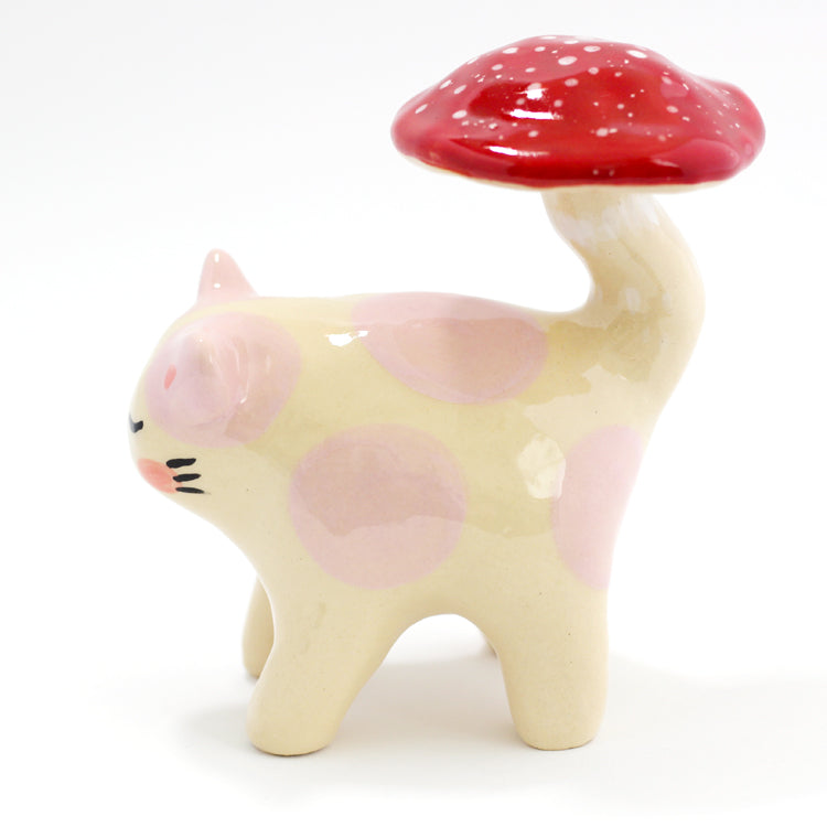 Ceramic Kitty Planter #146 - M