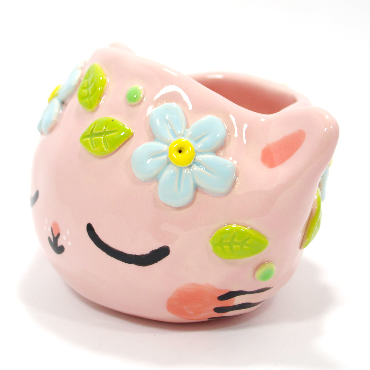 Ceramic Kitty Planter #151 - XXS
