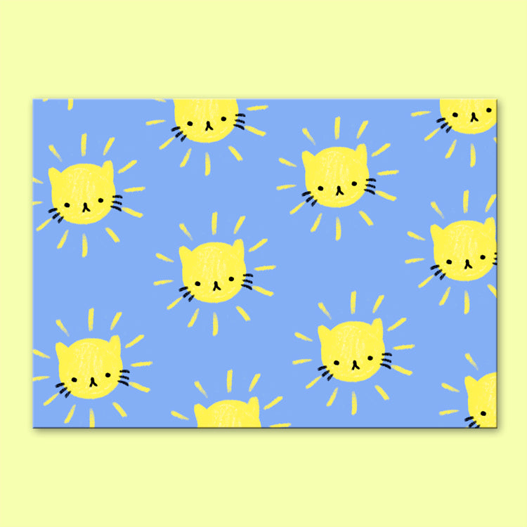 Sunshine Kitty Postcard