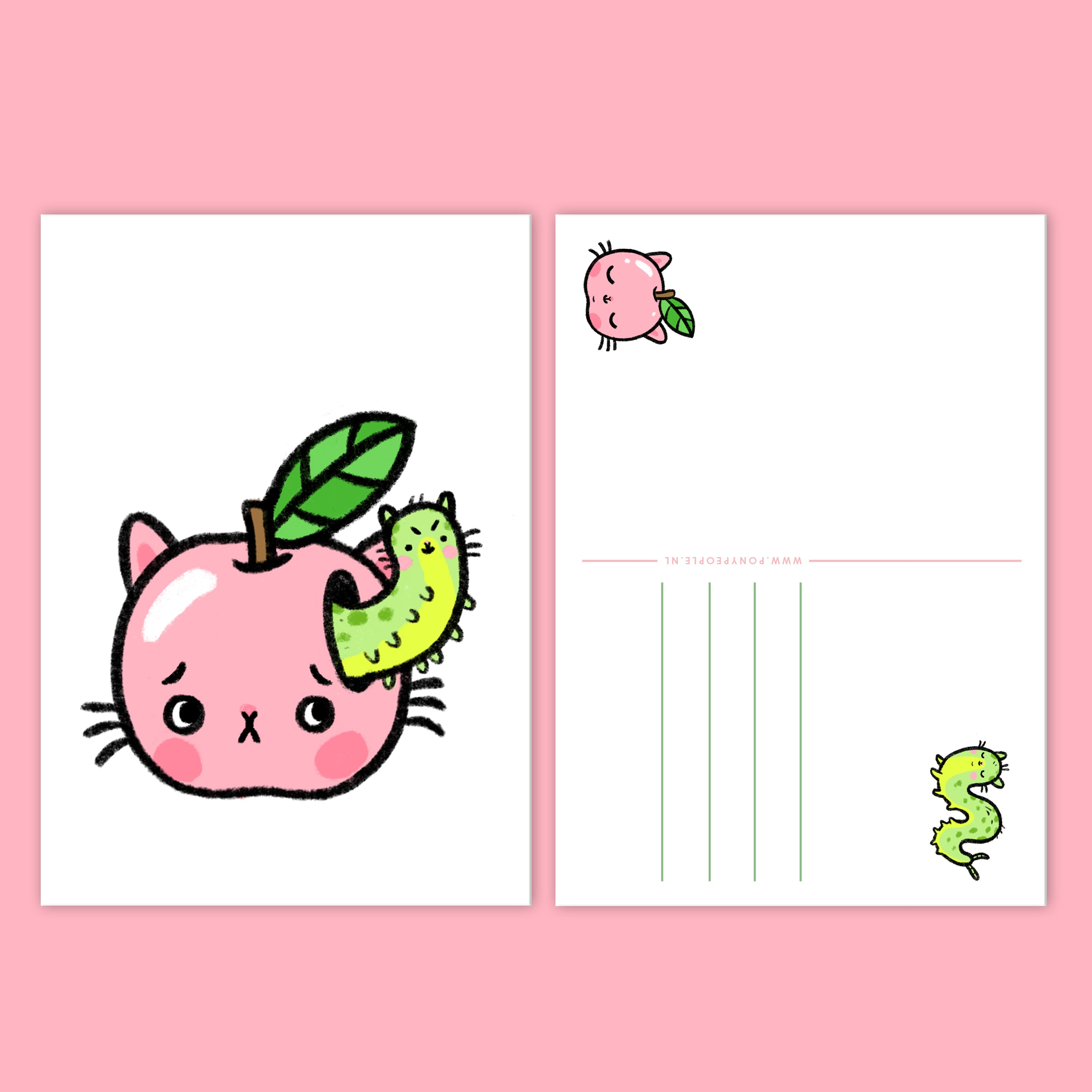 Hungry Caterpillar - Set of two Postcards
