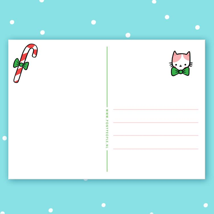 Candy Cat Postcard