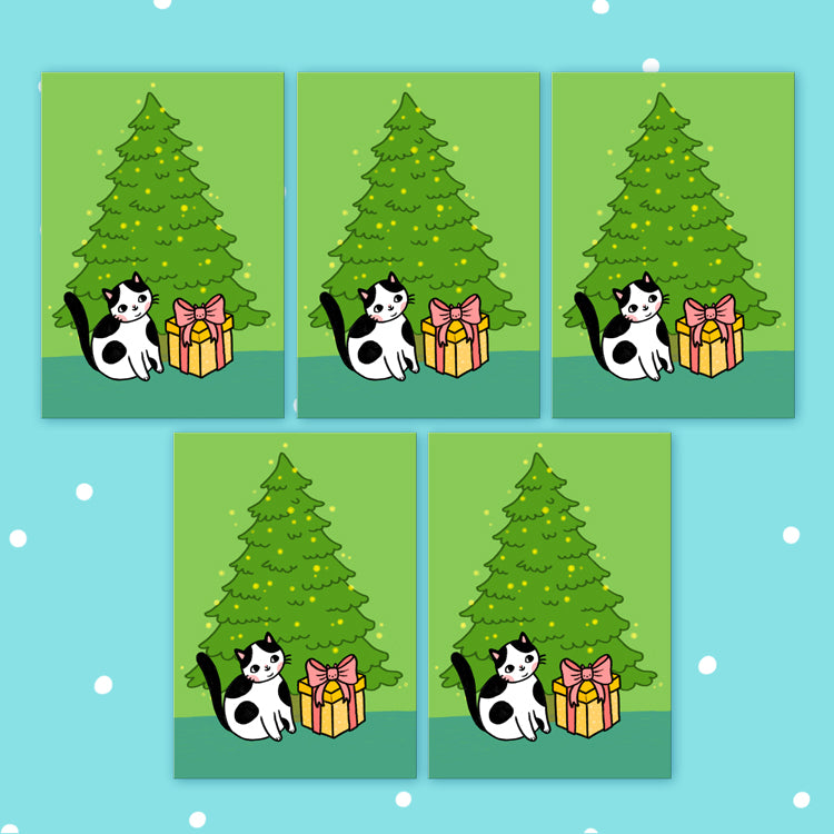 Holiday Surprise Postcards Set Of 5 - Green