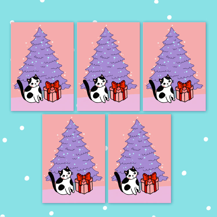 Holiday Surprise Postcards Set Of 5 - Pink