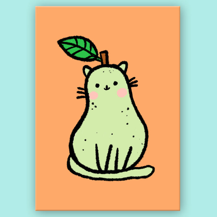 Pear Kitty Postcard
